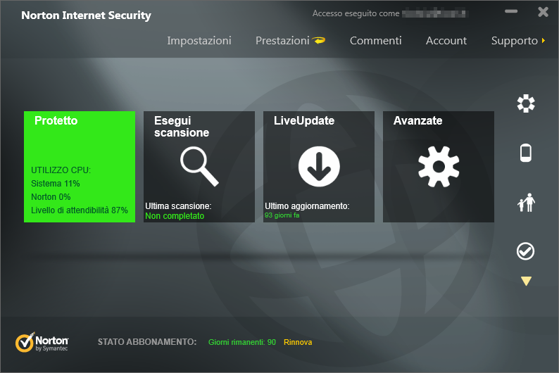 Norton 360 v2 internet security gaming edition 16.1.0.33 tri