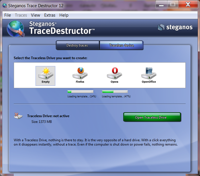 It wipes them completely. Versions. Steganos Trace Destructor 12.0